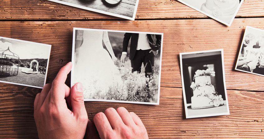 Verstaubte Hochzeitsfotos und Videos